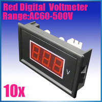 Wholesale Brand New Digital Red Voltmeter AC 75V to 300V LED Digital Panel Meter 10PCS