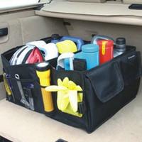 free shipping Senior waterproof fabrics Large capacity Car finishing box car garbage bucket car storage box black