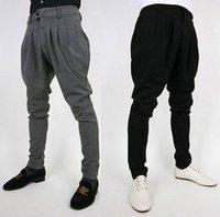 Mens Casual Pants Slim Half Trousers Slacks Baggy Harem 3Color V  / free shipping