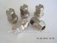 Gr5 titanium lug nut close end auto M12X35