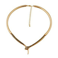 Elegant sexy gold snake choker collar necklace Free Shipping N1144