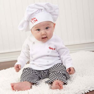 Free Shipping 3sets/lot Children's clothes suit,baby boy chef costume set,includes top,pant and hat