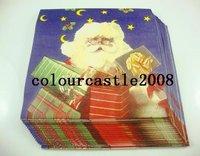 Christmas decoration ,X-mas party /paper Napkin paper color,Christmas snowman , 33X33cm  20pcs/pack  3pack/lot FG-222