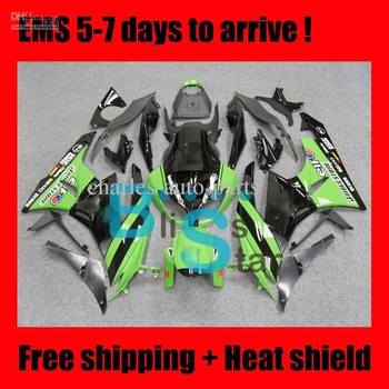 Body for KAWASAKI NINJA ZX 6R 09-11 ZX-6R ZX6R ZX 6 R 09 10 11 2009 2010 2011 Green fairing kit E354