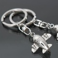 Free shipping! 5pcs/lot, civil airplane model key ring, fashion alloy key chain, KC56#