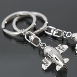 Free shipping! 5pcs/lot, civil airplane model key ring, fashion alloy key chain, KC56#(China (Mainland))