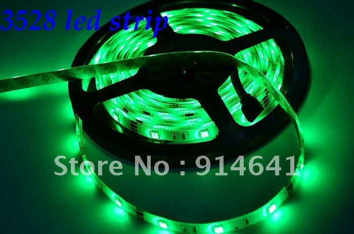 retail sale 3528 60led/m 5M LED Strip SMD Flexible light 60led/m indoor non-waterproof warm/white/red/green/blue/yellow(China (Mainland))