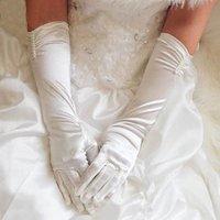 2012 Hot White &IVORY Evening  Satin  bridal glove    ST-0006