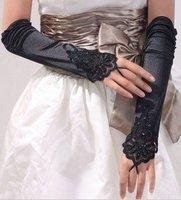 2012 Hot Black glamour  Lace   bridal glove   ST-0013