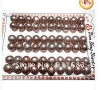 Wholesale 30 pair of AA+ Purple pearl stud earring beads 8.0-8.5mm
