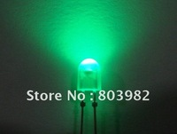High quality outdoot led dispaly diodes Milky white diffused 5mm oval green led(Epistar chip)