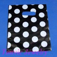Free Shipping 100 High Quality Plastic Retail Gift Shopping Bags 25X20cm TVL-28XA2025