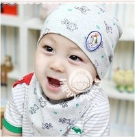 Free shipping Print pocket hat bonnet male thermal baby hat baby hat