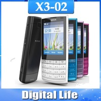 X3-02 Original Nokia X3-02  3G  WIFI  5MP Unlock  Cellphone Free shipping