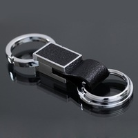 Classic Man keychains, leather design + alloy material key ring KC65#