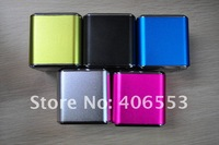 100pcs/lot Brand New angel A08 mini mp3 speaker support TF card and U-disk,With Screen,Mix Color,Free Shipping