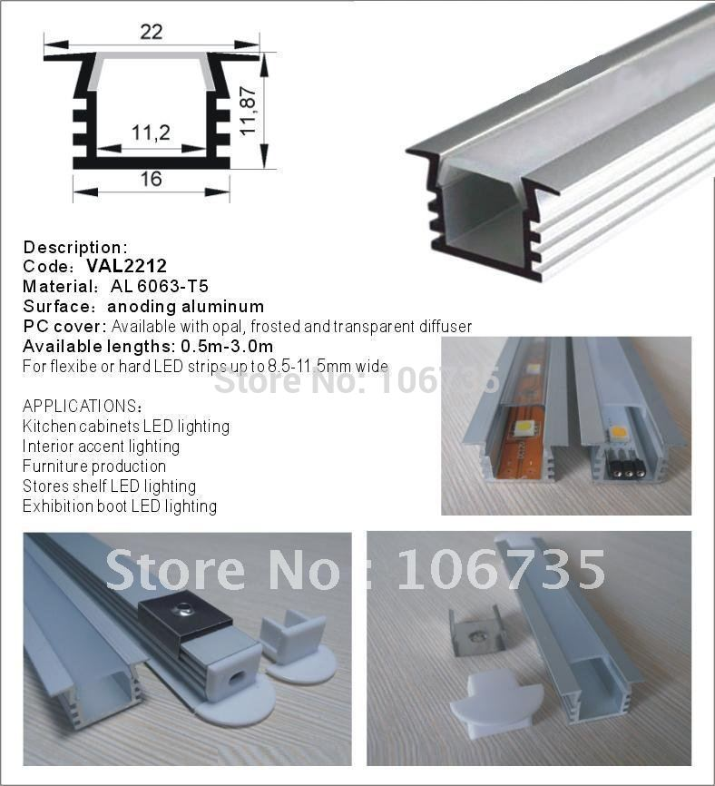 Aluminum Strip Light square-shaped Channels inear led system recessed ceiling profiles ground profile with frosted cover(Hong Kong)