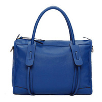 Women's handbag genuine leather 2012 tote bags blue