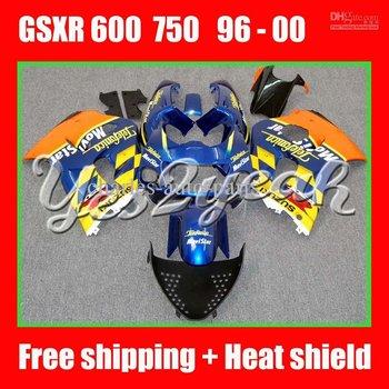 Orange Blue for SUZUKI GSXR 600 750 96-00 GSXR600 GSXR750 GSX R600 R750 96 97 98 99 00 Fairing Kit