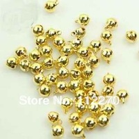 Free shipping 100 pcs 6mm gold Jingle Bell Fit Christmas Festival party DIY accessories  0120921001 (18)