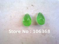 Green jade Water Drop 6*8MM 12*18MM earring Neckpendant