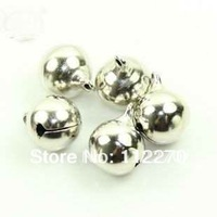 Free shipping 50 pcs 16mm silver Jingle Bell Fit Christmas Festival party DIY accessories  0120921004 (6)