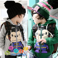 2013 New Brand Winter  autumn super man monkey child boys clothing baby cardigan sweatshirt 3575