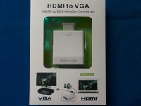 New HDMI Male to VGA Female Video AV TV Cable Converter Adapter 1080P with Audio