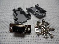 20pcs DB9 9P RS232 Serial Port Male Socket + Plastic