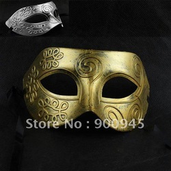 Golden Color Retro Roman gladiator Halloween party masks man woman children Masquerade mask # MJ01024a(China (Mainland))