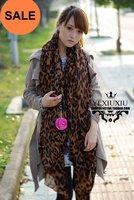 Free shipping+10pc/lot+Fashion Sexy Leopard Warm Winter Lady's scarf 175cm