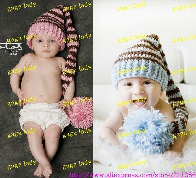 200pcs baby hand-knitted hat newborn infant crochet hat striped beanies crochet cap Christmas cap Free Shipping(China (Mainland))