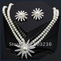 Free Shipping High Quality Promotion Fashion Wedding Jewelry Pearl Jewelry Set