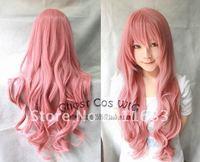 COSPLAY WIG New Longe Dark Pink Wavy Wig 80CM