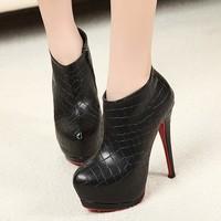 Туфли на высоком каблуке 2012 new 14cm high waterproof Taiwan fine with nightclubs Korean princess shoes