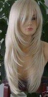 New long Straight Platinum Blond wig