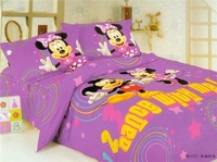 New Beautiful 3PC 100% Cotton Comforter Duvet Doona Cover Sets Twin / Queen Size baby bedding set 3pcs Dancing micky