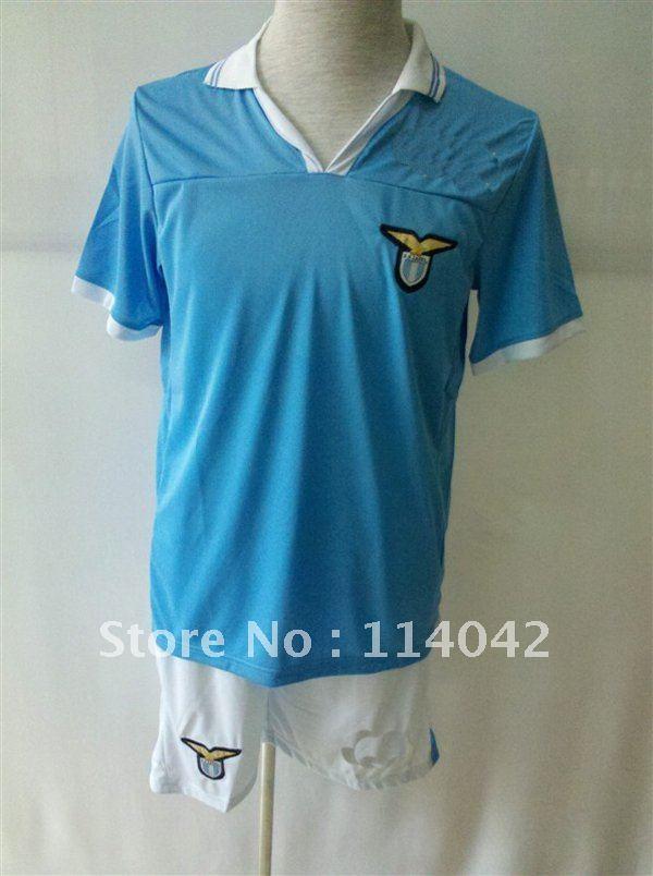 New style! Lazio 12/13 Home and Away Soccer Jersey original logo football kits soccer uniforms Free shipping!(China (Mainland))