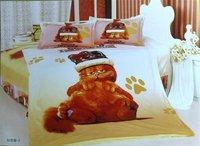 New Beautiful 3PC 100% Cotton Comforter Duvet Doona Cover Sets Twin / Queen Size baby bedding set 3pcs Garfield