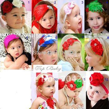 20pcs/lot-TOP BABY HEADBANDs hair head wrap/Newborn hairpiece Girl's  Head Flower