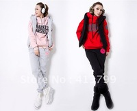 New Arrive Free Shipping Women fall and winter clothes long pants vest sport suit three-piece sweater thicken