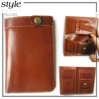 Handmade leather medium-long wallet male wallet genuine leather wallet men's wallet