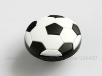 1PC Retail Nursery Boys Cartoon Knobs Black White Football Soccer Drawer Pulls, Kids Furniture Handle Children Carbinet DFBK