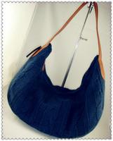 Winter PU yarn bag knitted bag fashion solid color shoulder bag