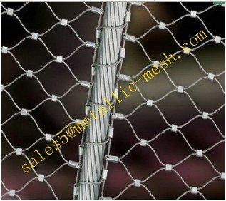 Ferruled 7x7 Stainless steel rope mesh/steel wire rope mesh