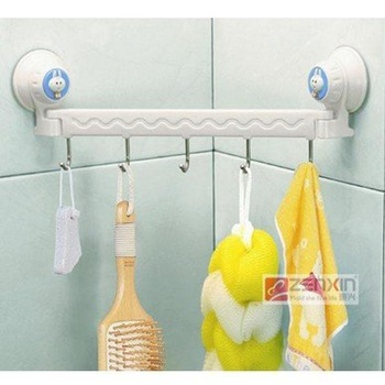 Suction wall five linked hook high quality 2pcs/lot ,3 styles to choose #M012