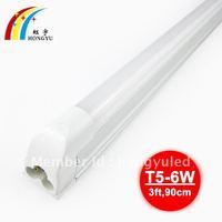 free shipping t5 led tube light 0.9m 6w 900-1100lm 85-265v led tube flu0rescent lamp 12pcs/lot