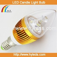 Free Shipping 3W 3*1W E14  Energy-Saving LED Candle Light Bulb Lamp 85-265v for Ceiling chandelier 6pcs/lot