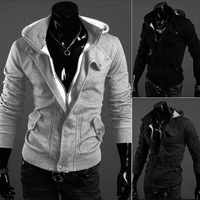 spring and autumn  hot sell hooded cardigan leisure napping man coat