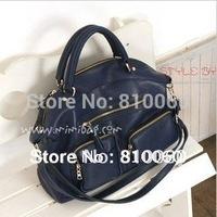 2014 new women messenger bag bolsas genuine leather women's handbag work office tote bag high quality purse black blue